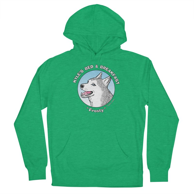 Frosty Men's French Terry Pullover Hoody by Kyle's Bed & Breakfast Fine Clothing & Gifts Shop