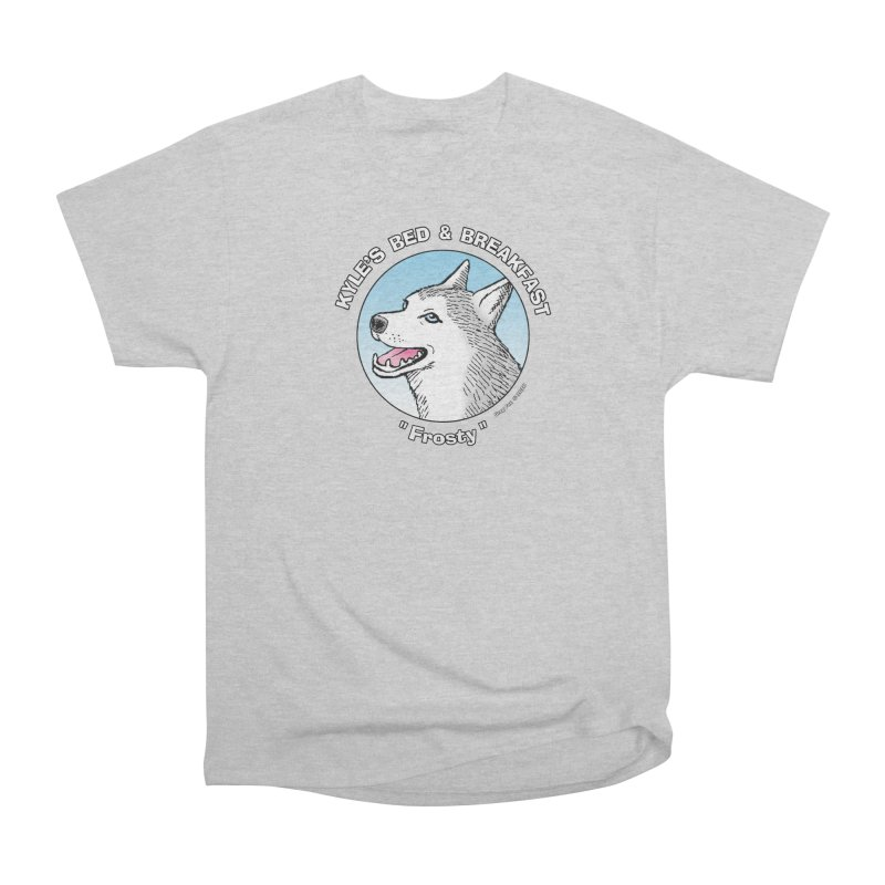 Frosty Men's Heavyweight T-Shirt by Kyle's Bed & Breakfast Fine Clothing & Gifts Shop