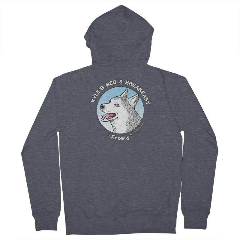 Frosty Women's Zip-Up Hoody by Kyle's Bed & Breakfast Fine Clothing & Gifts Shop