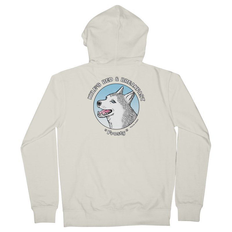 Frosty Women's French Terry Zip-Up Hoody by Kyle's Bed & Breakfast Fine Clothing & Gifts Shop