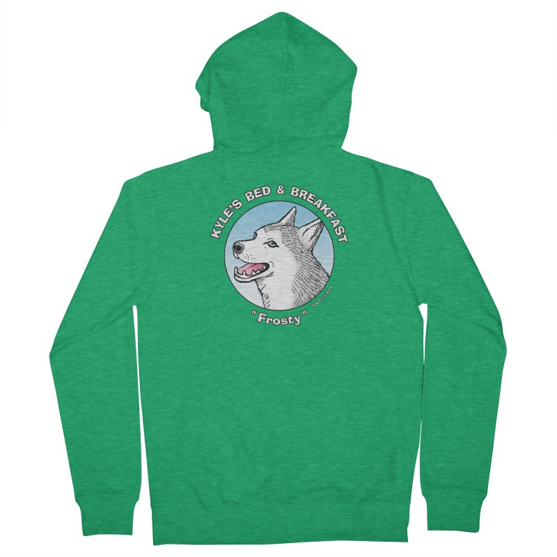 Frosty Men's French Terry Zip-Up Hoody by Kyle's Bed & Breakfast Fine Clothing & Gifts Shop