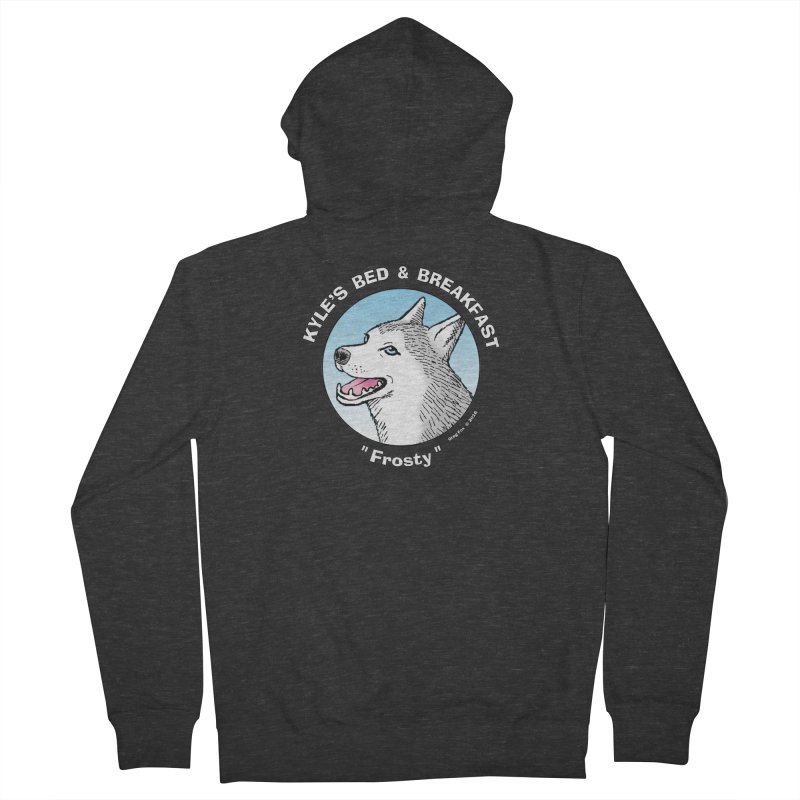 Frosty Men's Zip-Up Hoody by Kyle's Bed & Breakfast Fine Clothing & Gifts Shop