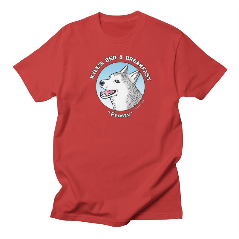 Frosty Men's Regular T-Shirt by Kyle's Bed & Breakfast Fine Clothing & Gifts Shop