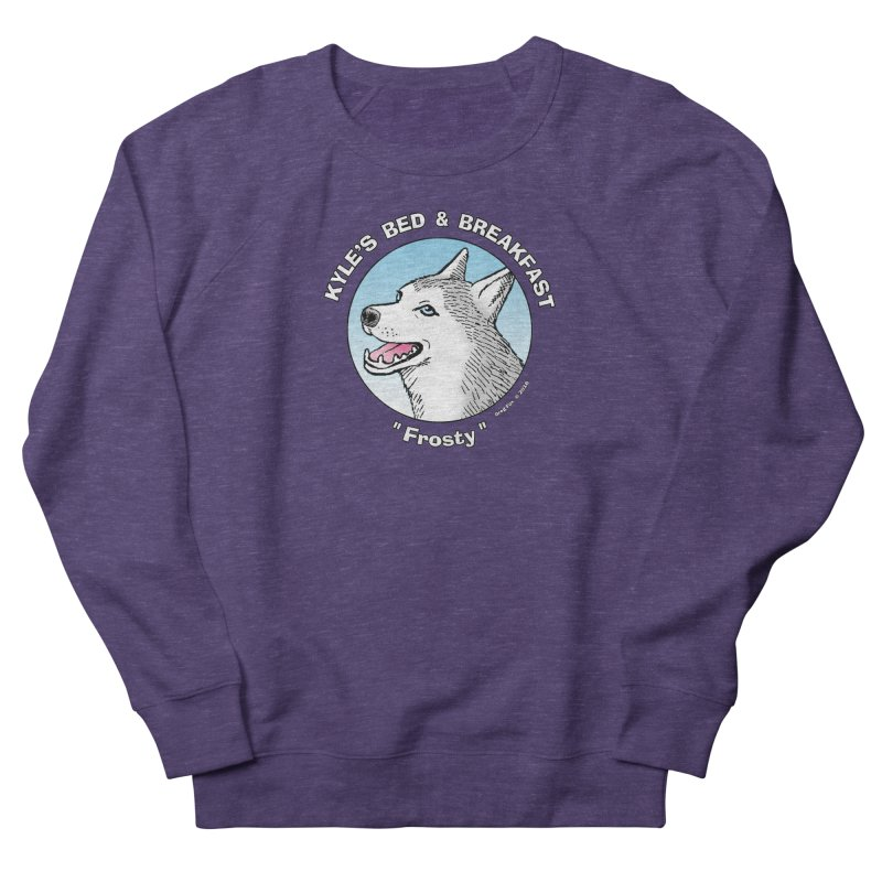 Frosty Men's French Terry Sweatshirt by Kyle's Bed & Breakfast Fine Clothing & Gifts Shop