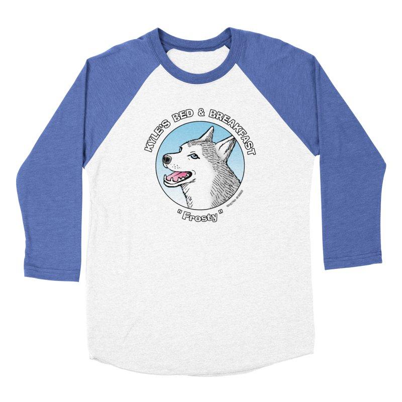 Frosty Women's Baseball Triblend Longsleeve T-Shirt by Kyle's Bed & Breakfast Fine Clothing & Gifts Shop
