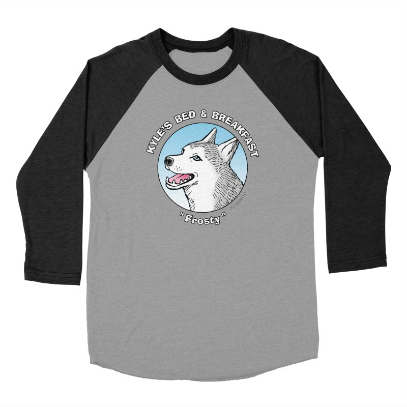 Frosty Women's Baseball Triblend T-Shirt by Kyle's Bed & Breakfast Fine Clothing & Gifts Shop