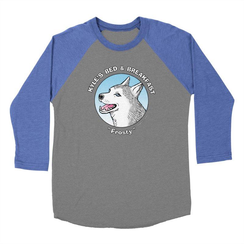 Frosty Men's Baseball Triblend Longsleeve T-Shirt by Kyle's Bed & Breakfast Fine Clothing & Gifts Shop