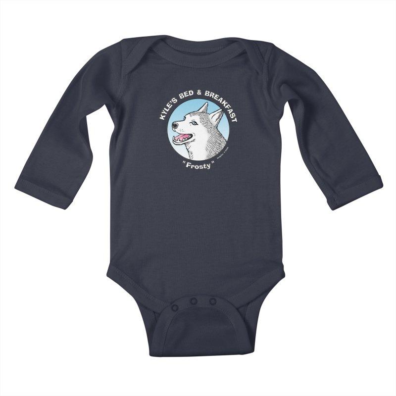 Frosty Kids Baby Longsleeve Bodysuit by Kyle's Bed & Breakfast Fine Clothing & Gifts Shop