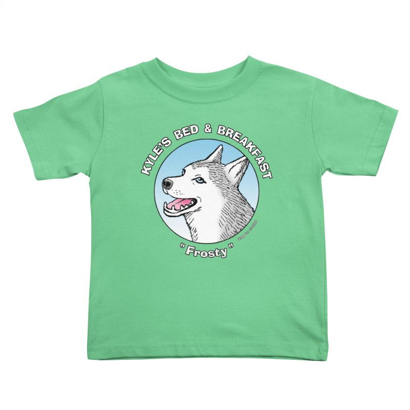 Frosty Kids Toddler T-Shirt by Kyle's Bed & Breakfast Fine Clothing & Gifts Shop