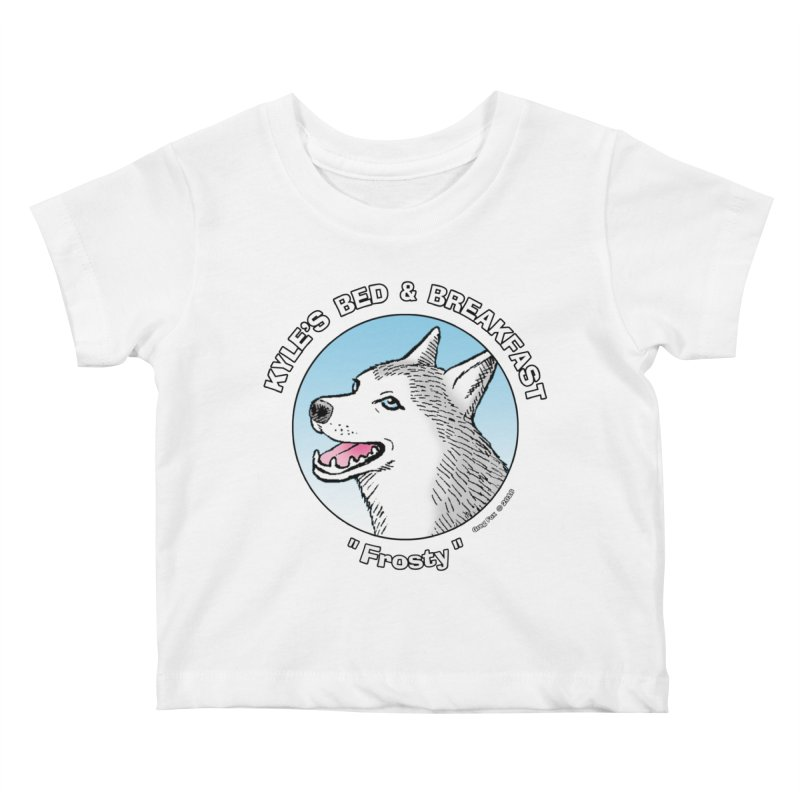 Frosty Kids Baby T-Shirt by Kyle's Bed & Breakfast Fine Clothing & Gifts Shop