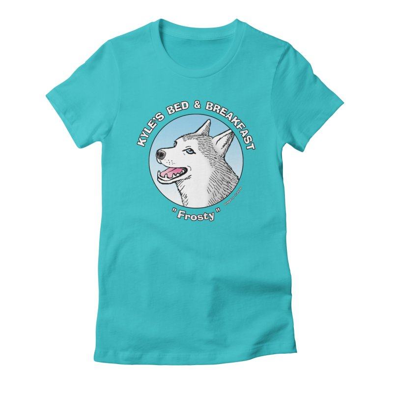 Frosty Women's Fitted T-Shirt by Kyle's Bed & Breakfast Fine Clothing & Gifts Shop