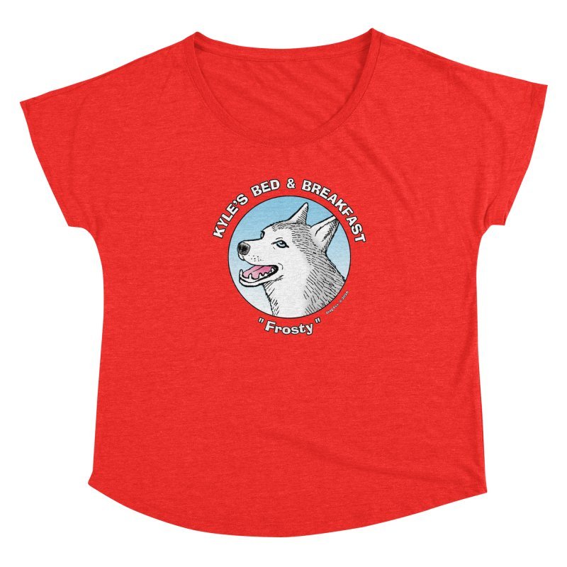 Frosty Women's Scoop Neck by Kyle's Bed & Breakfast Fine Clothing & Gifts Shop
