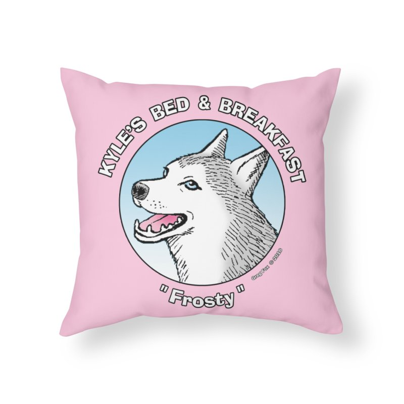 Frosty Home Throw Pillow by Kyle's Bed & Breakfast Fine Clothing & Gifts Shop