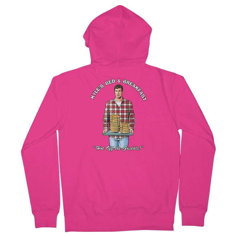 Kyle - Hot Off the Griddle! Men's Zip-Up Hoody by Kyle's Bed & Breakfast Fine Clothing & Gifts Shop