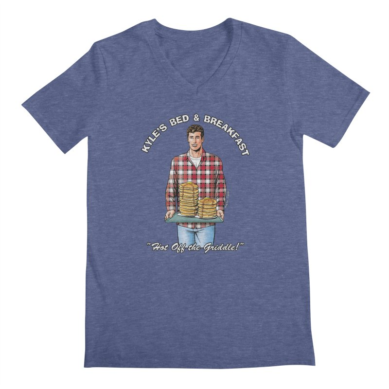 Kyle - Hot Off the Griddle! Men's Regular V-Neck by Kyle's Bed & Breakfast Fine Clothing & Gifts Shop