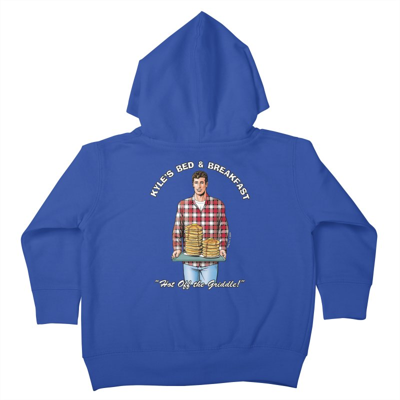 Kyle - Hot Off the Griddle! Kids Toddler Zip-Up Hoody by Kyle's Bed & Breakfast Fine Clothing & Gifts Shop