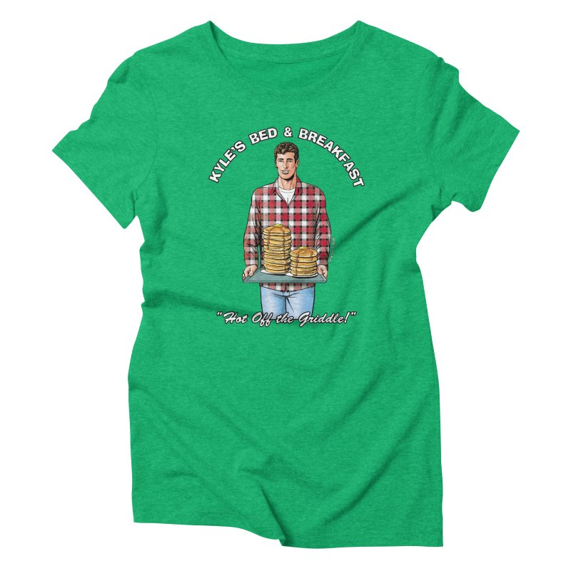 Kyle - Hot Off the Griddle! Women's Triblend T-Shirt by Kyle's Bed & Breakfast Fine Clothing & Gifts Shop