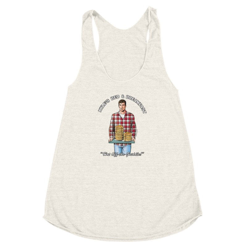 Kyle - Hot Off the Griddle! Women's Racerback Triblend Tank by Kyle's Bed & Breakfast Fine Clothing & Gifts Shop