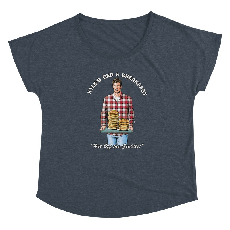 Kyle - Hot Off the Griddle! Women's Scoop Neck by Kyle's Bed & Breakfast Fine Clothing & Gifts Shop