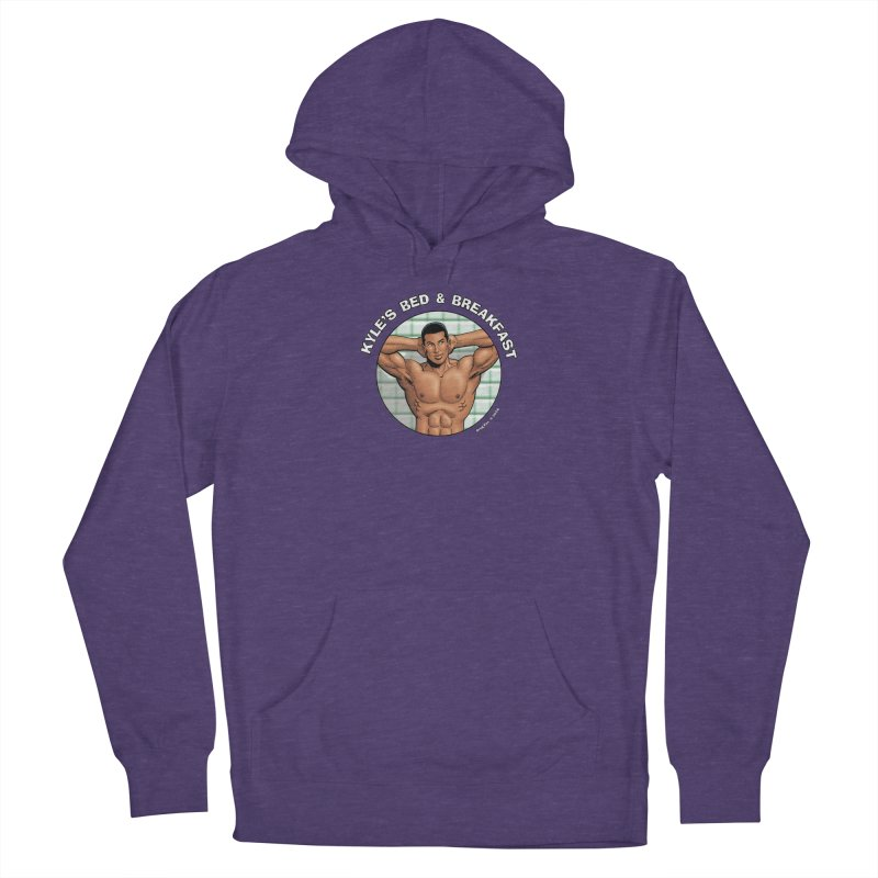 Lance - Shower Men's French Terry Pullover Hoody by Kyle's Bed & Breakfast Fine Clothing & Gifts Shop