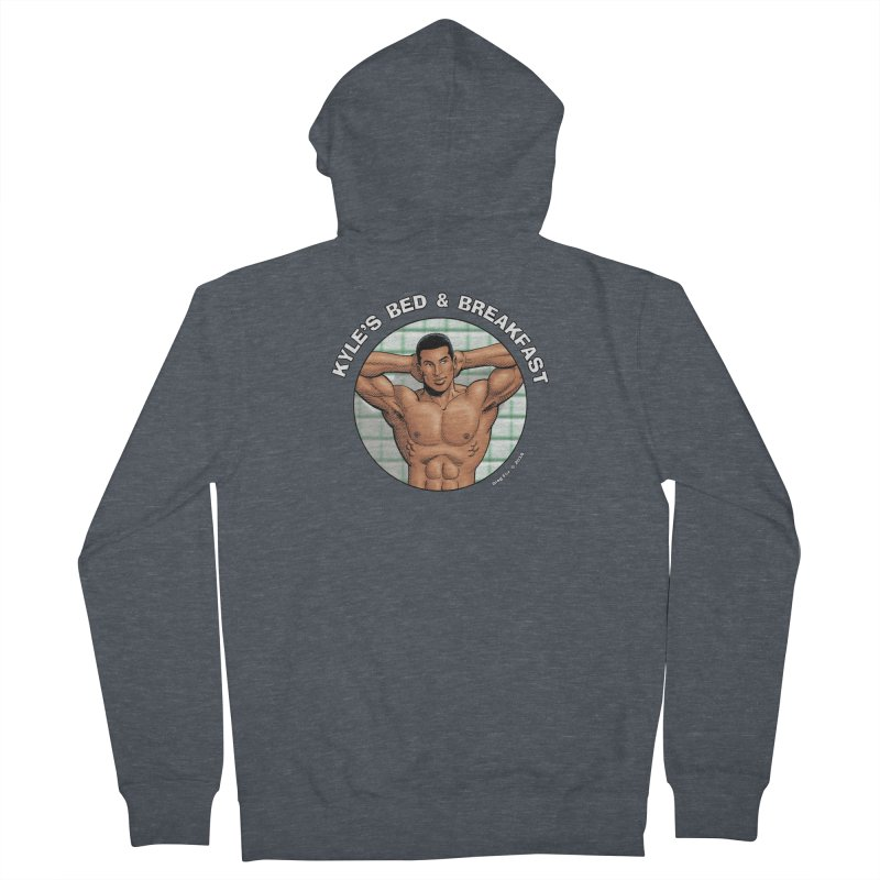 Lance - Shower Men's Zip-Up Hoody by Kyle's Bed & Breakfast Fine Clothing & Gifts Shop
