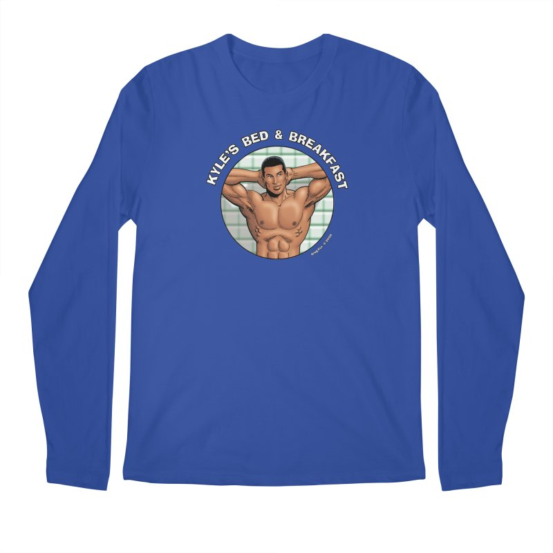 Lance - Shower Men's Longsleeve T-Shirt by Kyle's Bed & Breakfast Fine Clothing & Gifts Shop