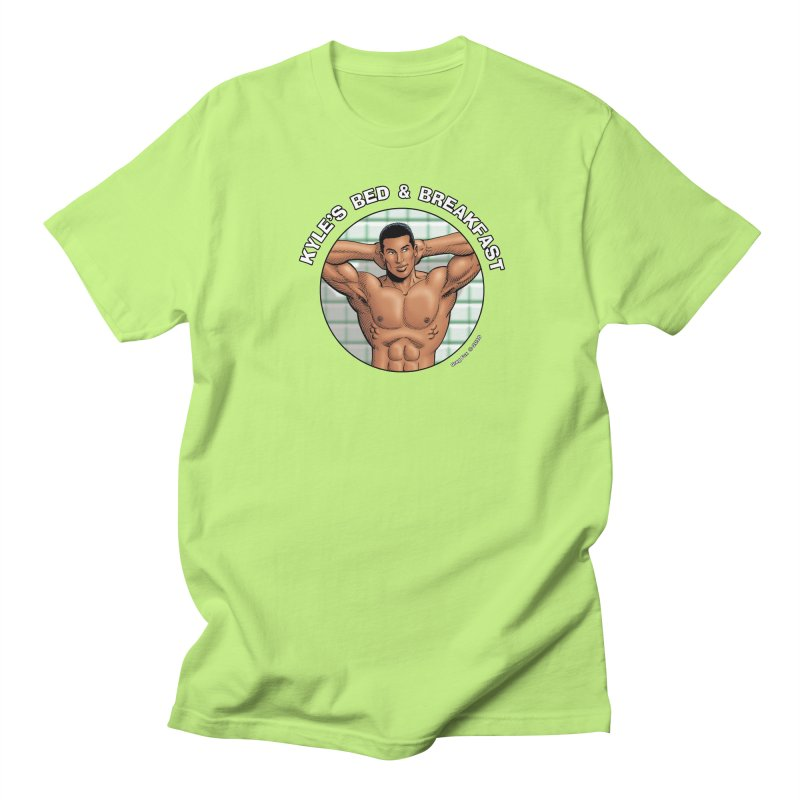Lance - Shower Men's T-shirt by Kyle's Bed & Breakfast Fine Clothing & Gifts Shop
