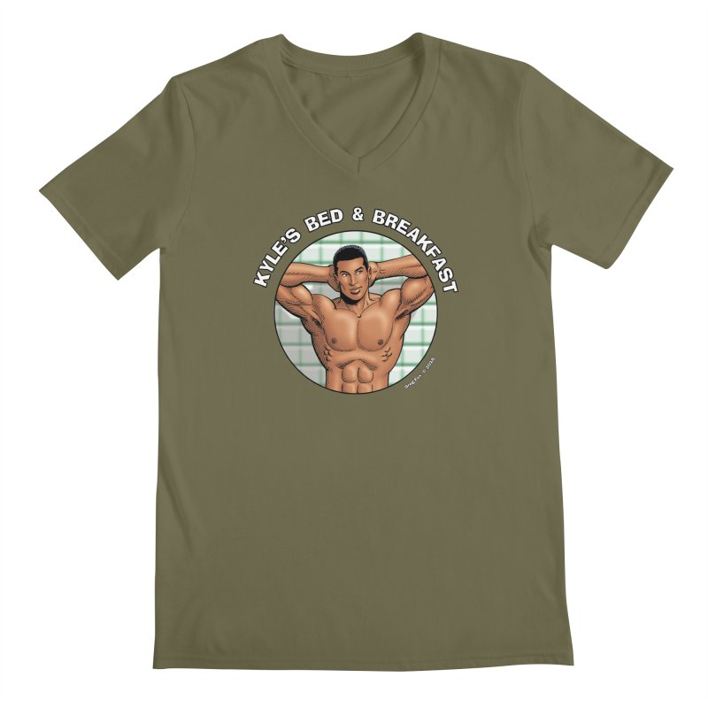 Lance - Shower Men's V-Neck by Kyle's Bed & Breakfast Fine Clothing & Gifts Shop