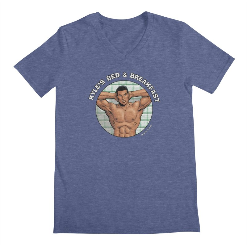 Lance - Shower Men's V-Neck by Kyle's Bed & Breakfast Fine Clothing & Gifts Shop