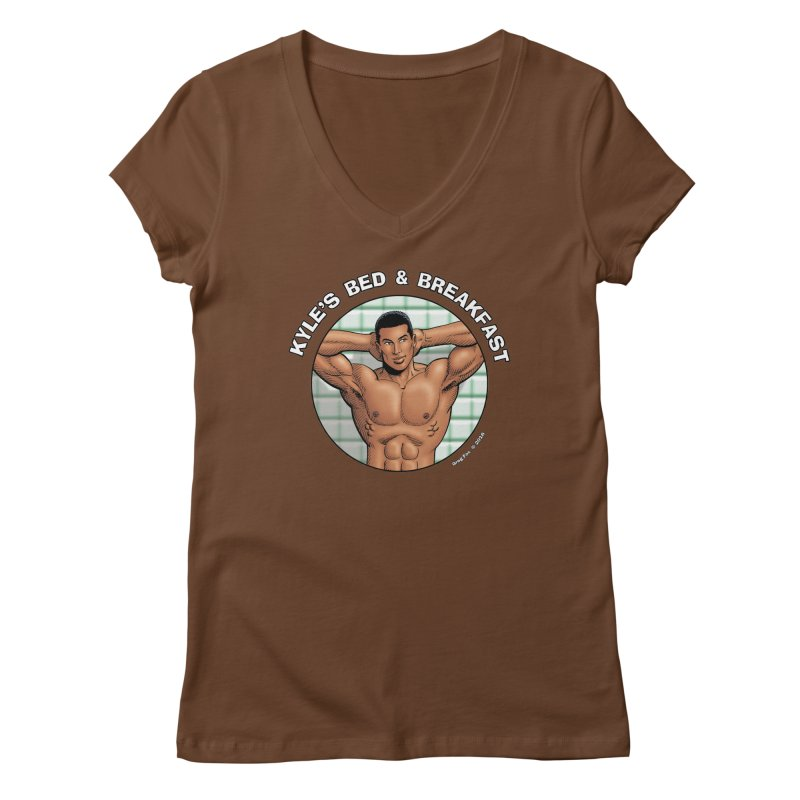 Lance - Shower Women's V-Neck by Kyle's Bed & Breakfast Fine Clothing & Gifts Shop