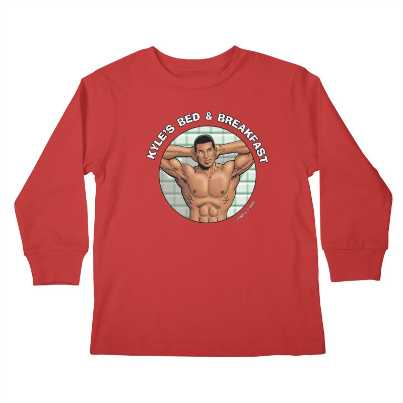 Lance - Shower Kids Longsleeve T-Shirt by Kyle's Bed & Breakfast Fine Clothing & Gifts Shop