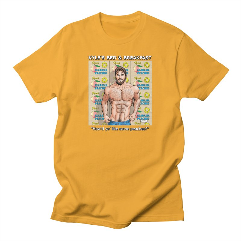 Drew - Fresh Alabama Peaches Men's T-Shirt by Kyle's Bed & Breakfast Fine Clothing & Gifts Shop