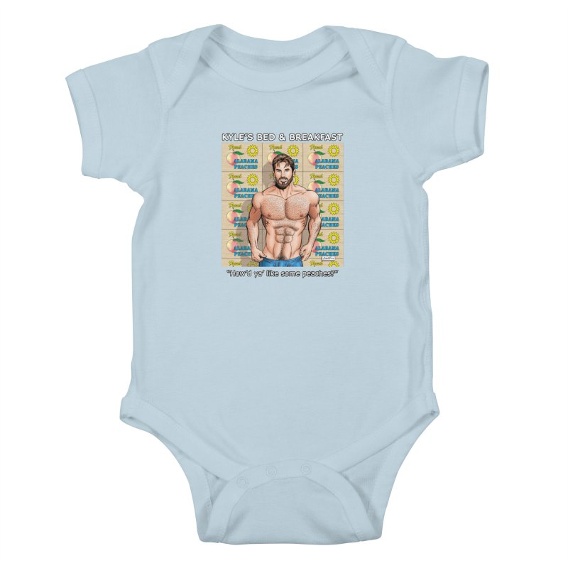 Drew - Fresh Alabama Peaches Kids Baby Bodysuit by Kyle's Bed & Breakfast Fine Clothing & Gifts Shop