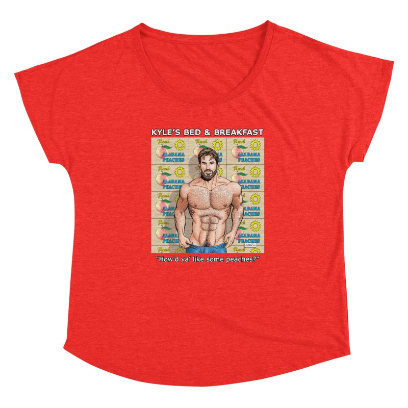 Drew - Fresh Alabama Peaches Women's Scoop Neck by Kyle's Bed & Breakfast Fine Clothing & Gifts Shop
