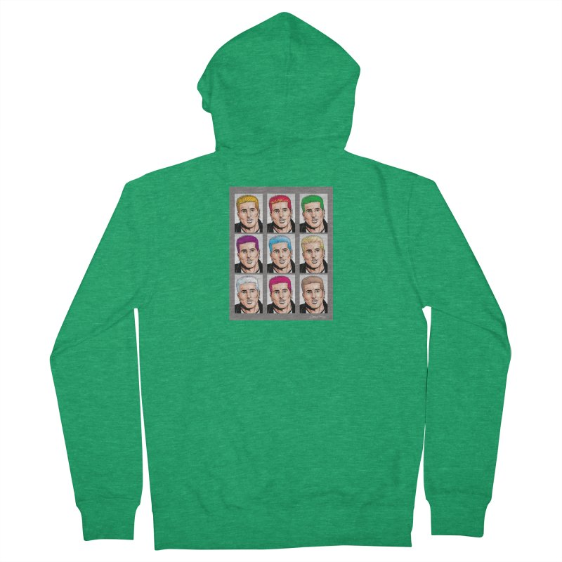 The Many Haircolors of Richard Men's Zip-Up Hoody by Kyle's Bed & Breakfast Fine Clothing & Gifts Shop