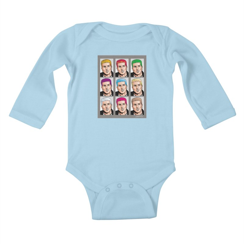 The Many Haircolors of Richard Kids Baby Longsleeve Bodysuit by Kyle's Bed & Breakfast Fine Clothing & Gifts Shop