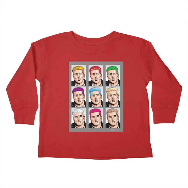 The Many Haircolors of Richard Kids Toddler Longsleeve T-Shirt by Kyle's Bed & Breakfast Fine Clothing & Gifts Shop