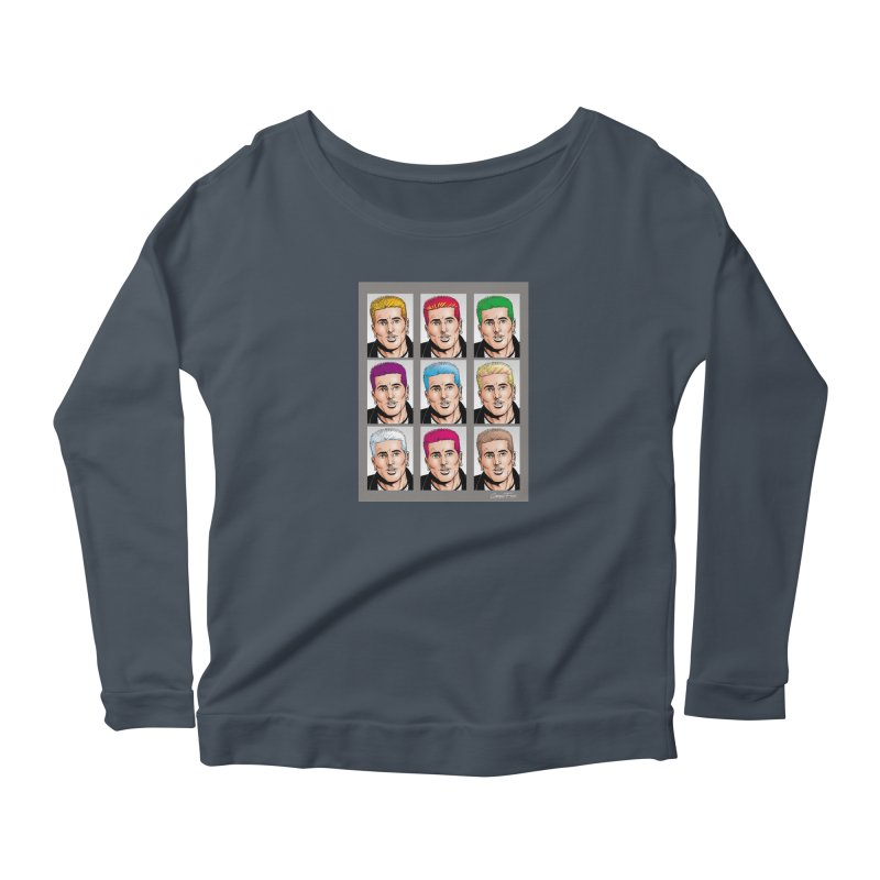 The Many Haircolors of Richard Women's Scoop Neck Longsleeve T-Shirt by Kyle's Bed & Breakfast Fine Clothing & Gifts Shop
