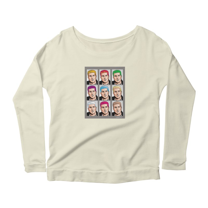 The Many Haircolors of Richard Women's Longsleeve Scoopneck  by Kyle's Bed & Breakfast Fine Clothing & Gifts Shop