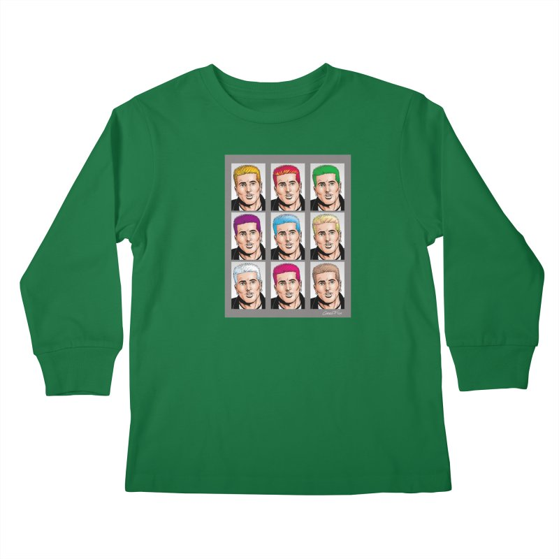 The Many Haircolors of Richard Kids Longsleeve T-Shirt by Kyle's Bed & Breakfast Fine Clothing & Gifts Shop