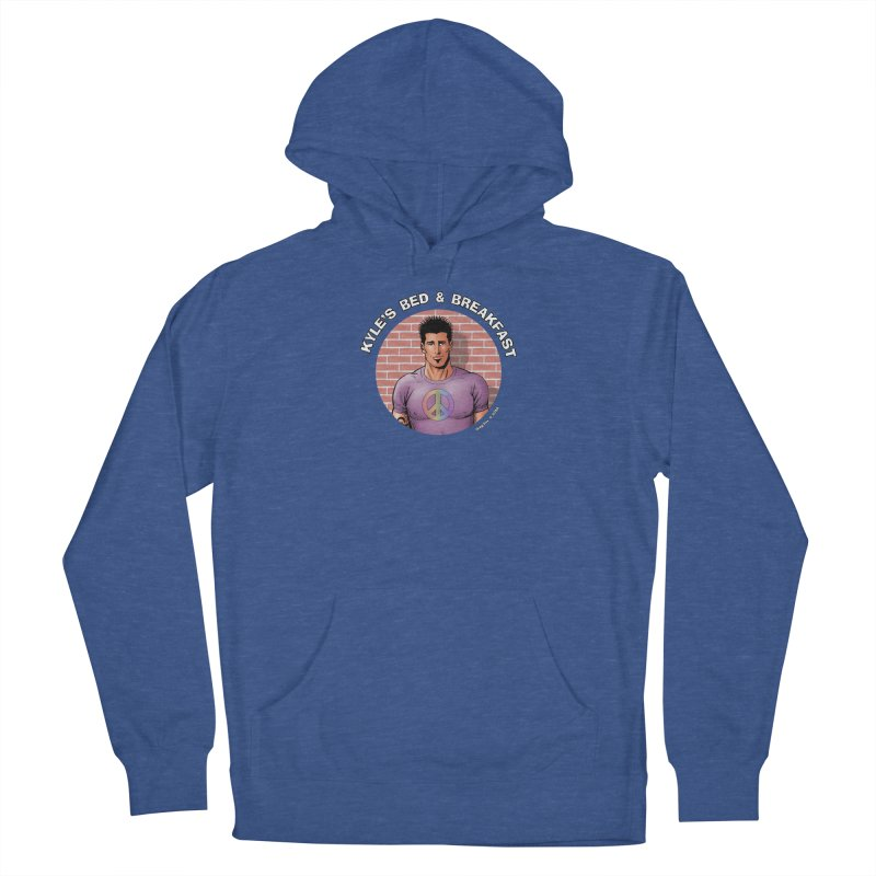 Eduardo - Peace Men's French Terry Pullover Hoody by Kyle's Bed & Breakfast Fine Clothing & Gifts Shop