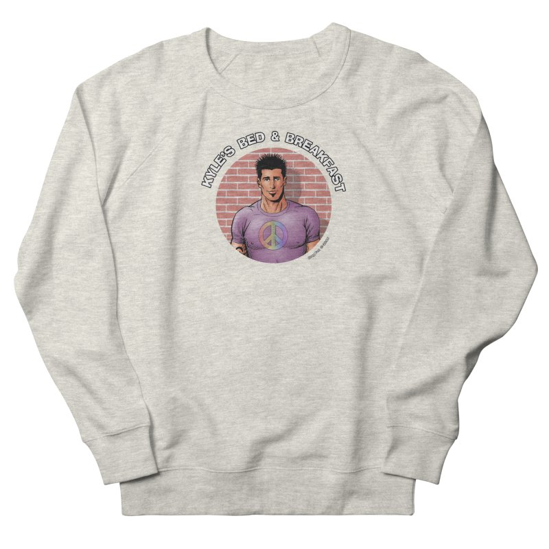 Eduardo - Peace Men's French Terry Sweatshirt by Kyle's Bed & Breakfast Fine Clothing & Gifts Shop