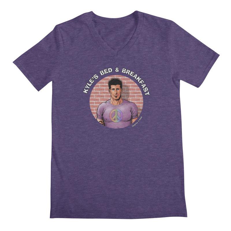 Eduardo - Peace Men's Regular V-Neck by Kyle's Bed & Breakfast Fine Clothing & Gifts Shop