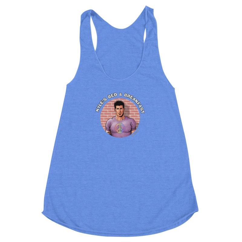 Eduardo - Peace Women's Racerback Triblend Tank by Kyle's Bed & Breakfast Fine Clothing & Gifts Shop