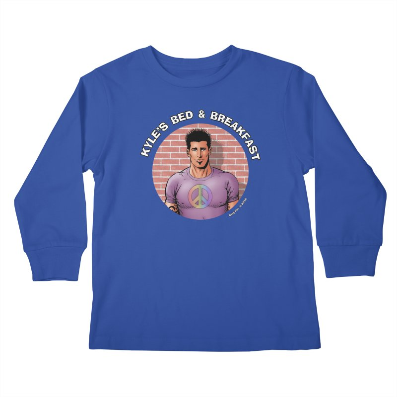 Eduardo - Peace Kids Longsleeve T-Shirt by Kyle's Bed & Breakfast Fine Clothing & Gifts Shop