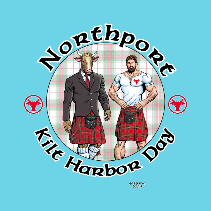 Northport - Kilt Harbor Day Men's Zip-Up Hoody by Kyle's Bed & Breakfast Fine Clothing & Gifts Shop