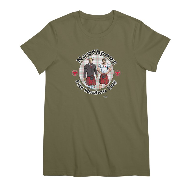 Northport - Kilt Harbor Day Women's Premium T-Shirt by Kyle's Bed & Breakfast Fine Clothing & Gifts Shop