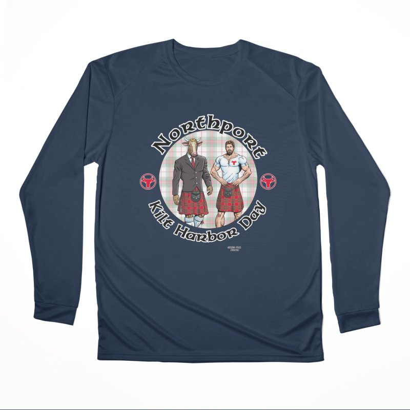 Northport - Kilt Harbor Day Men's Performance Longsleeve T-Shirt by Kyle's Bed & Breakfast Fine Clothing & Gifts Shop