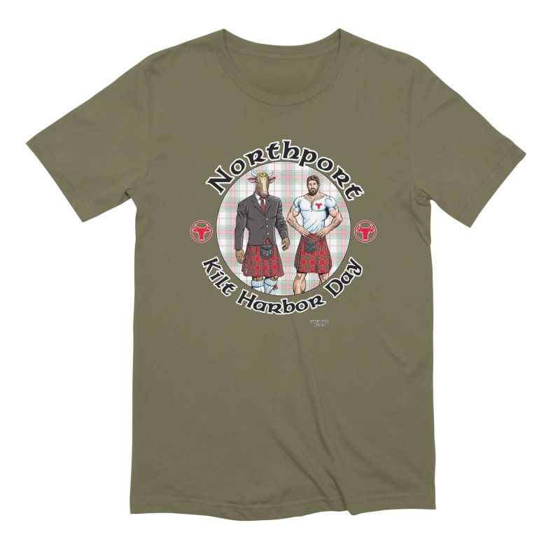 Northport - Kilt Harbor Day Men's Extra Soft T-Shirt by Kyle's Bed & Breakfast Fine Clothing & Gifts Shop