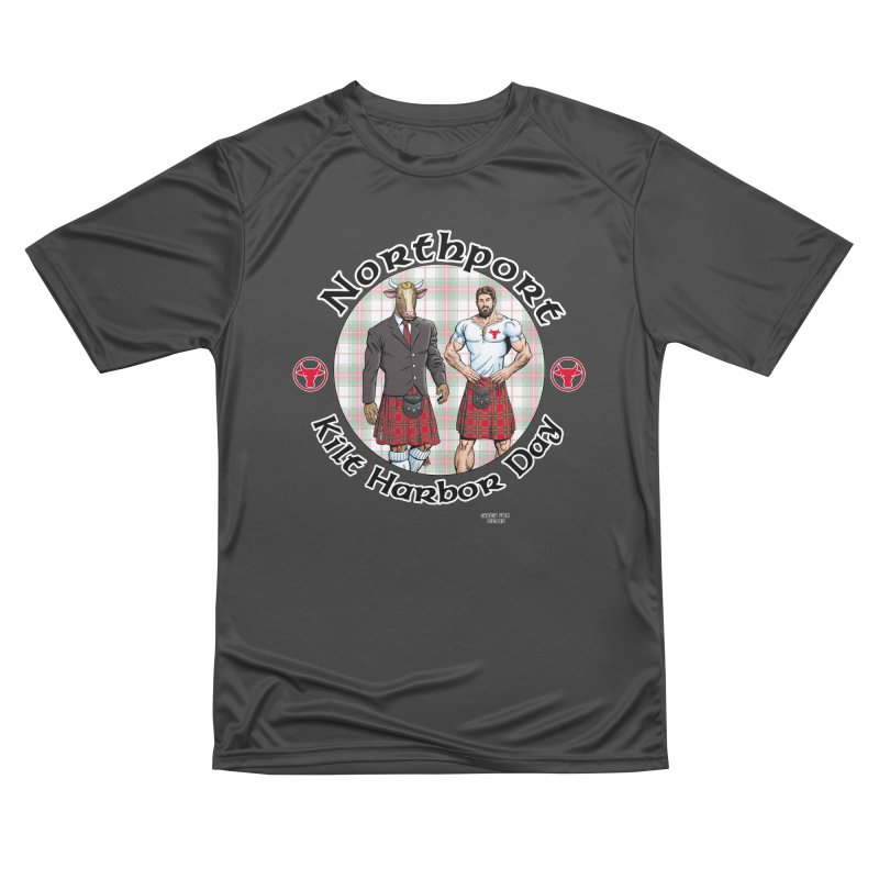 Northport - Kilt Harbor Day Men's Performance T-Shirt by Kyle's Bed & Breakfast Fine Clothing & Gifts Shop
